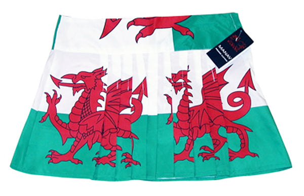 Wales Flag Pleated Mini Skirt