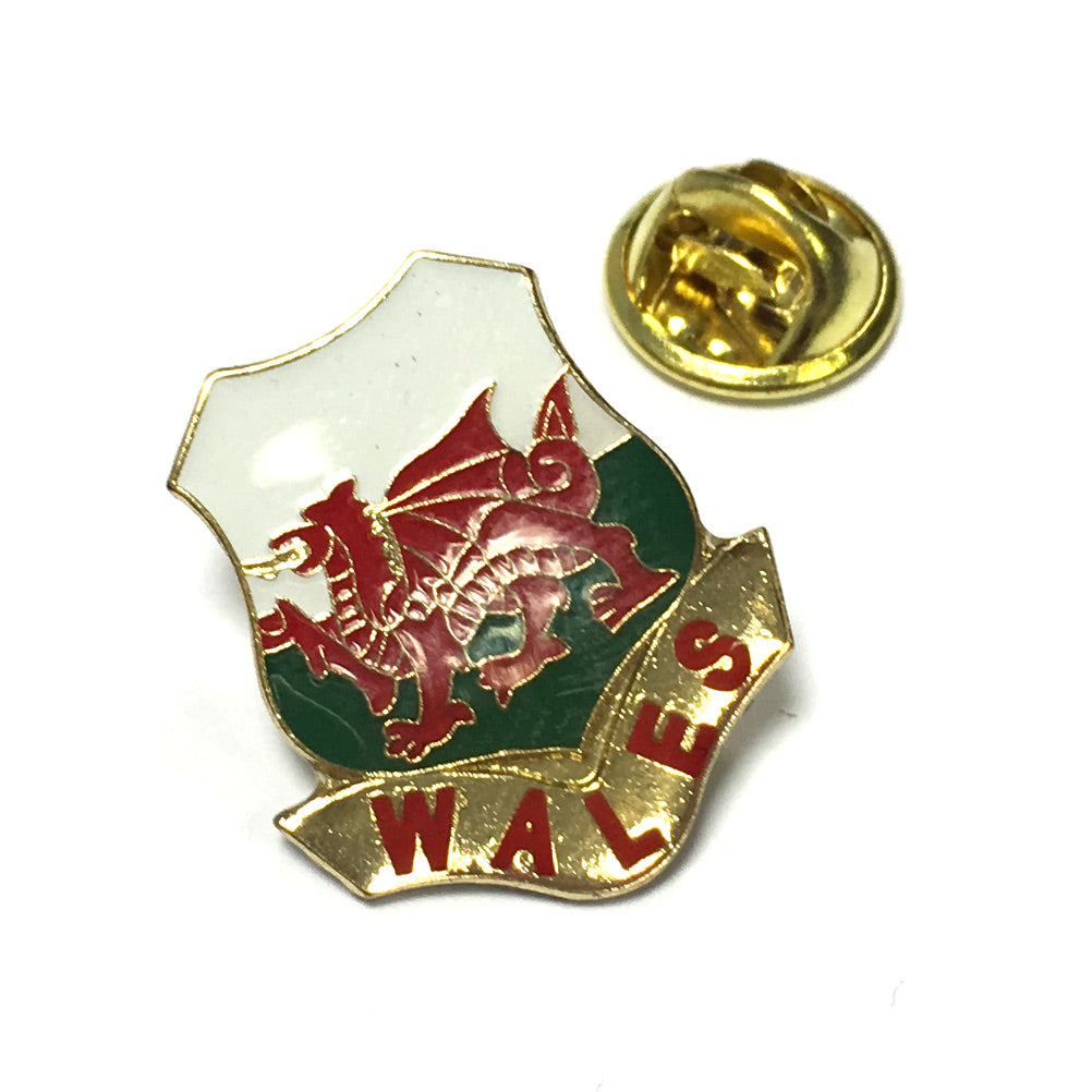 Wales Flag Shield Metal Lapel Pin Badge [srt]