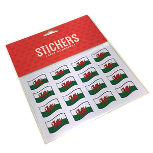 Wales Flag Stickers Multipack