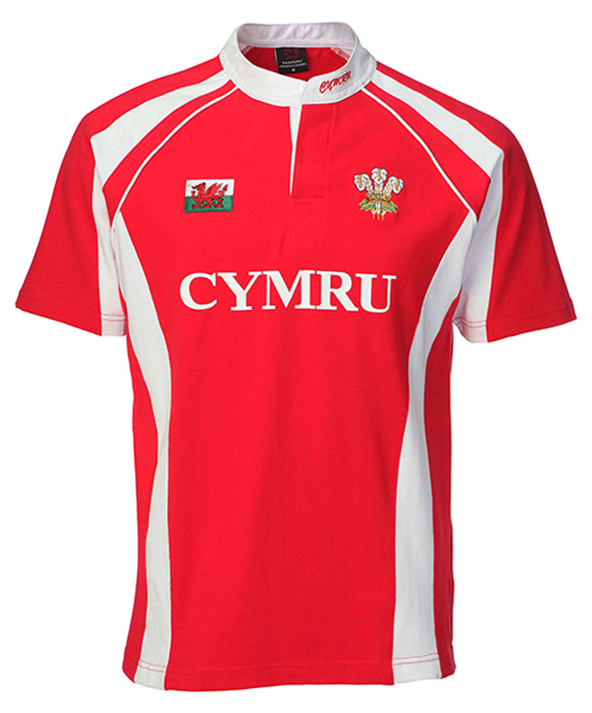 Wales Junior Haka Cotton Rugby Shirt