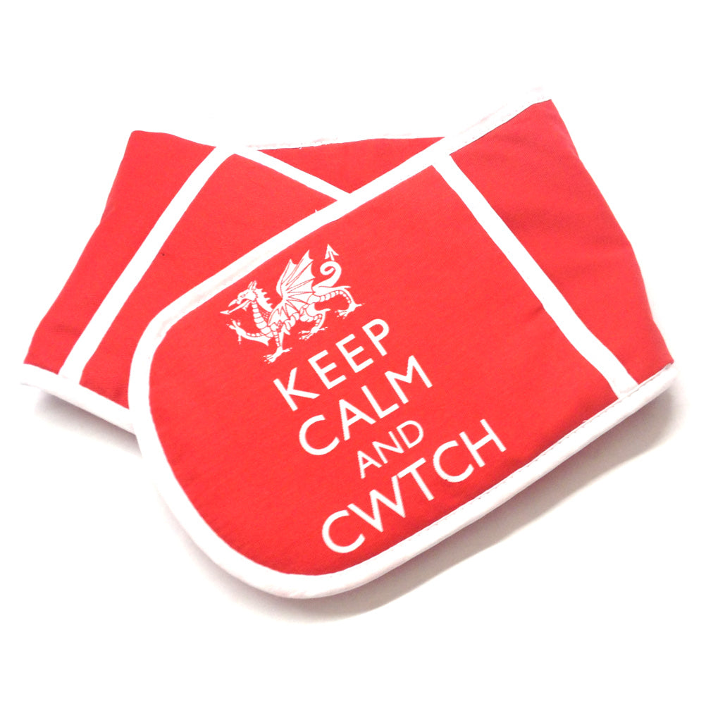 Wales Keep Calm & Cwtch Double Oven Glove [wl131]