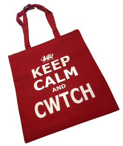Wales Keep Calm and Cwtch Cotton Shopper Bag