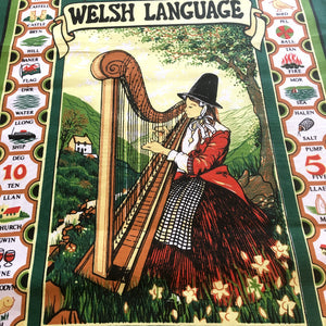Wales Language Welsh Lady Tea Towel [wt45]