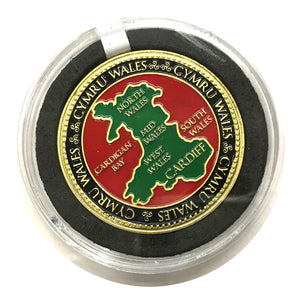 Cymru Wales MAP Colour Collector Coin [wn257]