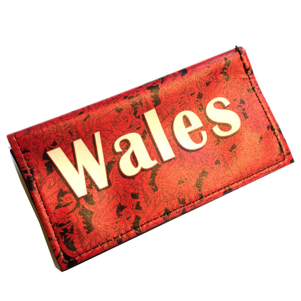 Wales Multi Dragon Vinyl Faux Leather Tobacco Pouch