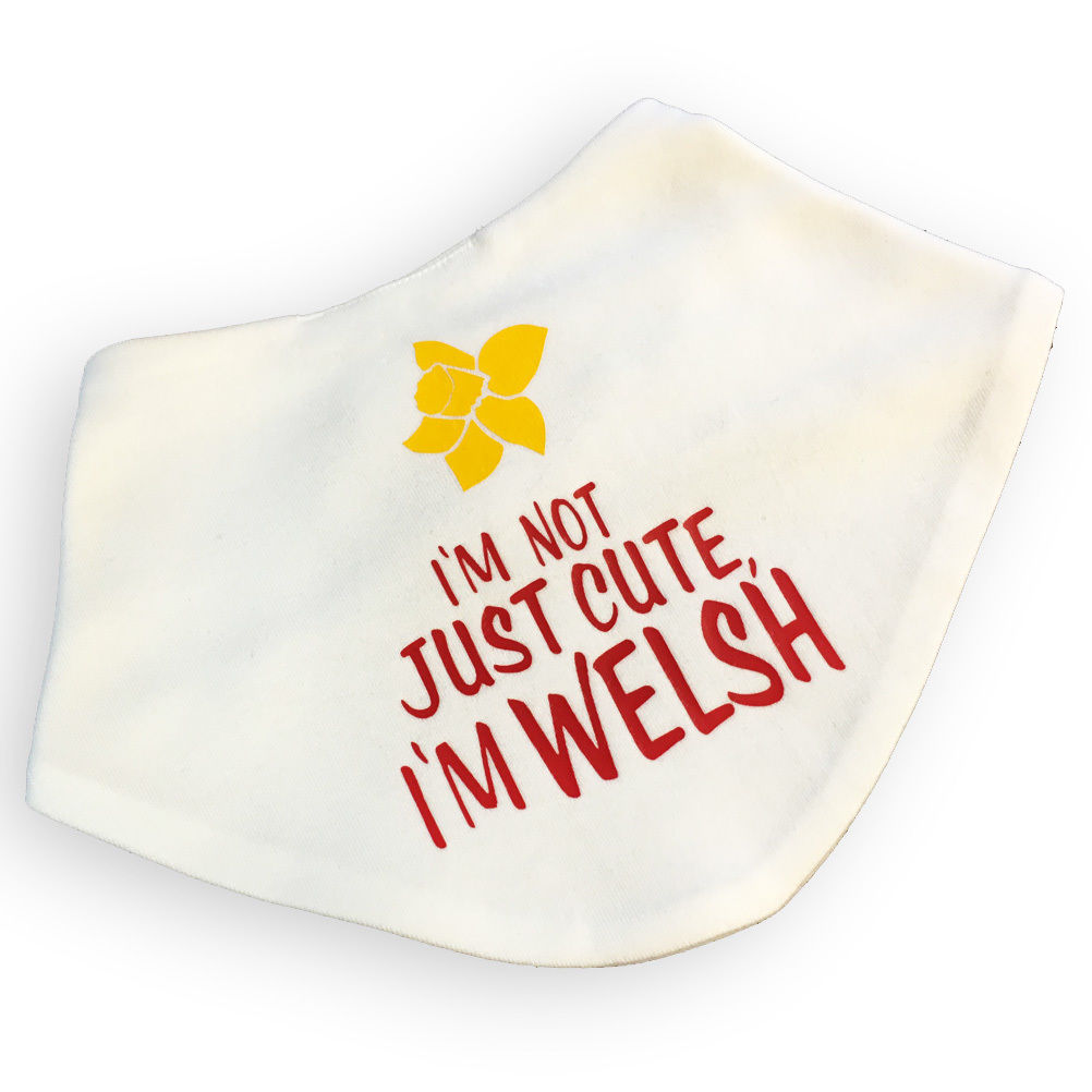 Wales Not Just Cute Baby Bandana Bib [daffodil]
