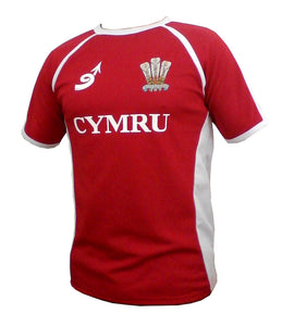 Wales 'Poly Contrast' Rugby Shirt
