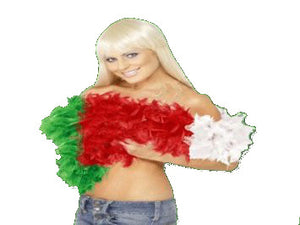 Wales Red White & Green Feather Boa [wa92]