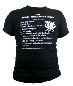 Wales Ten Commandments BLACK Unisex T-shirt