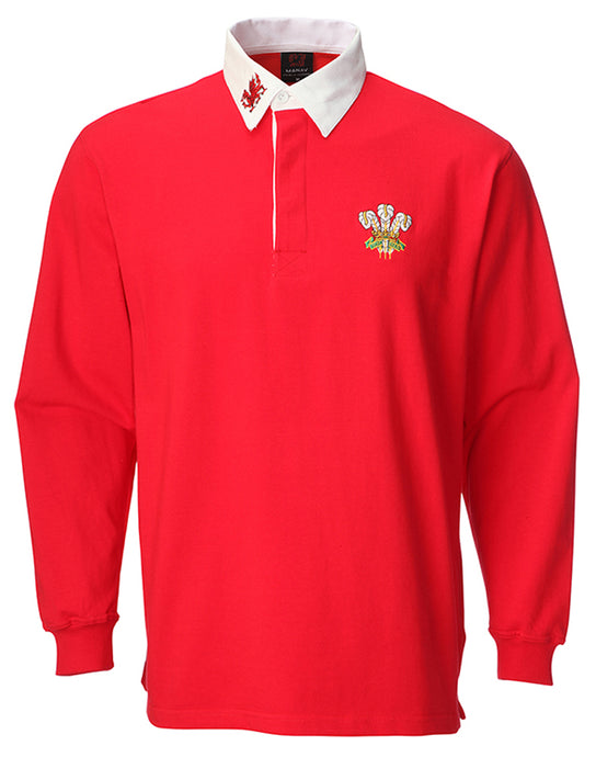 Wales Traditional Long Sleeve Rugby Shirt