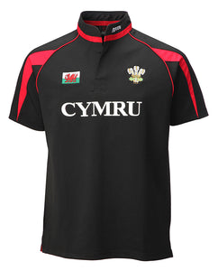 Wales Black Poly Junior Rugby Shirt [2years]