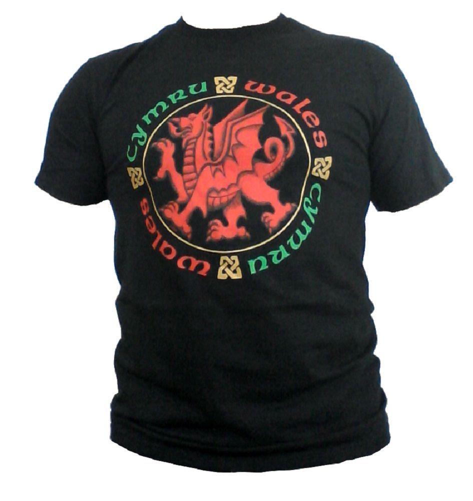 Wales Dragon Celtic Circle Unisex T-Shirt.
