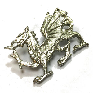 Wales Welsh Dragon Pewter Brooch [wn228]