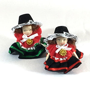 Welsh Lady Ceramic Mini Doll [wd20]