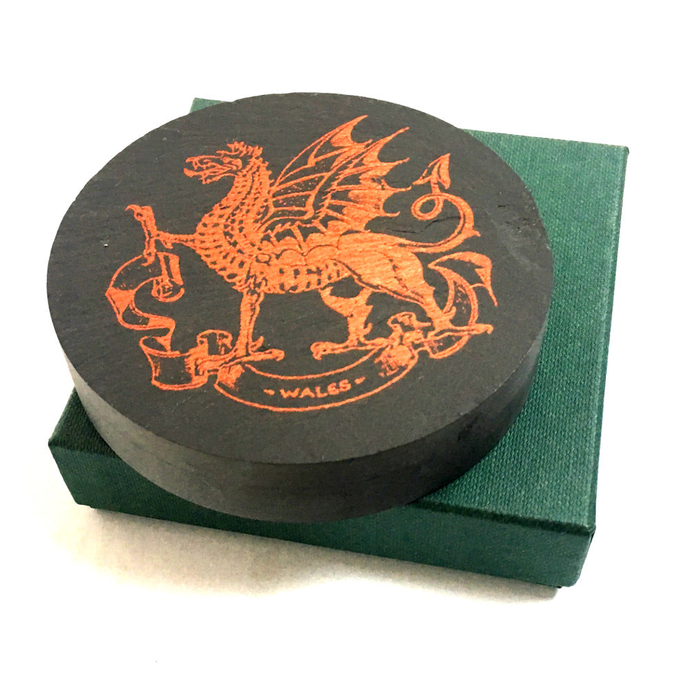 Welsh Dragon Slate Paperweight