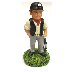 Welsh Miner Collectible Resin Figure by John Upton