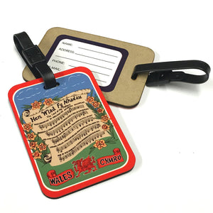 Welsh Anthem Laminated Board Luggage Tag [wx278]