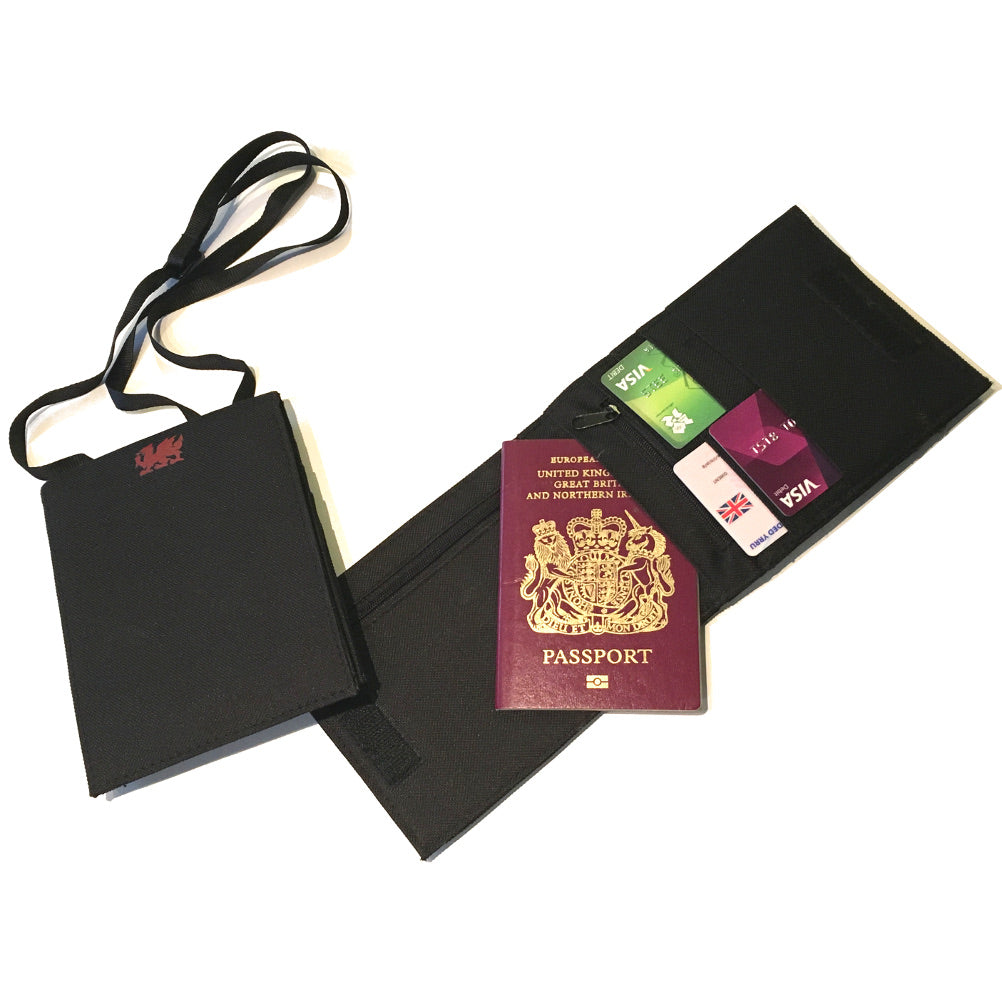 Welsh Dragon Passport / Documents Wallet Pouch