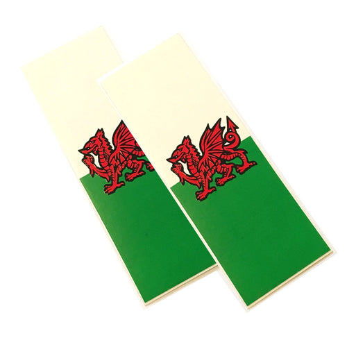 Welsh Flag Car Van Numberplate Stickers [wb155]