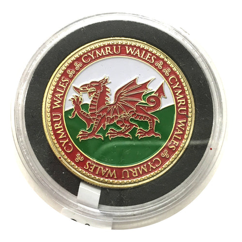 Cymru Wales Flag Colour Collector Coin [wn259]
