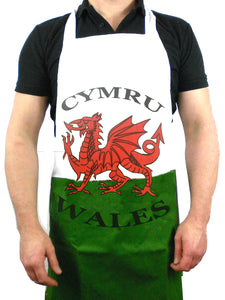 Welsh Flag Cotton Bib Apron [wl125]