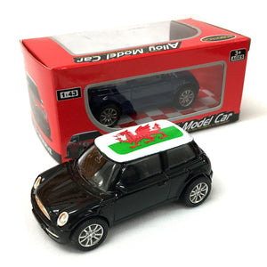 Welsh Flag Die Cast Metal Mini Car [black]