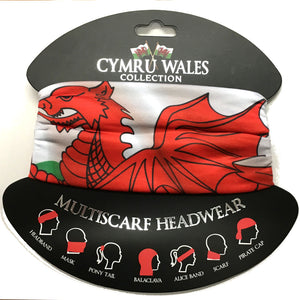 Wales Flag Polyester Multiscarf Scarf [wa173]