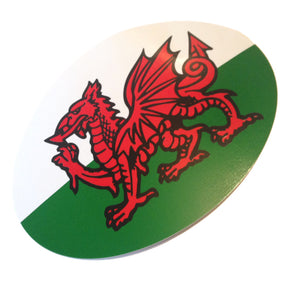 Wales Welsh Flag RGW Oval Sticker [wb17]