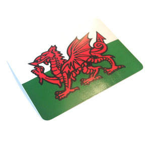 Welsh Flag Rectangular Car Sticker [100x140mm][wb12]