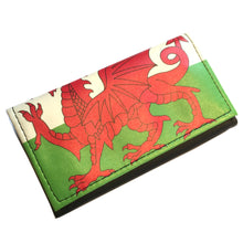Welsh Flag Vinyl Faux Leather Tobacco Pouch