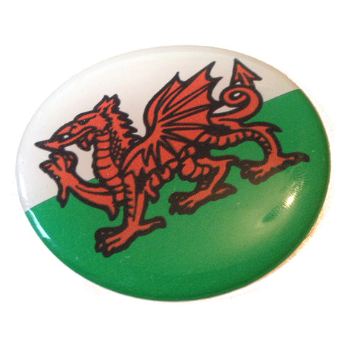 Wales Cymru Welsh Flag Raised Car Sticker 2 1/4