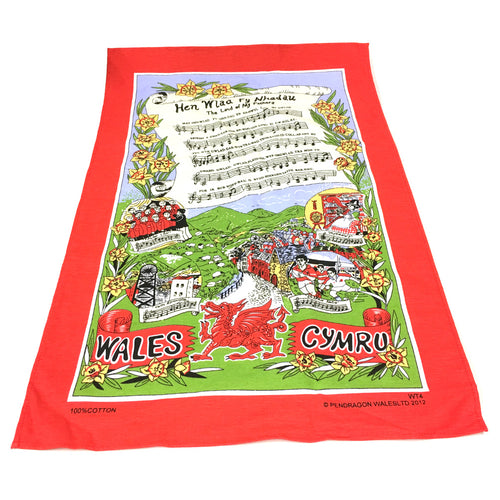 Wales Welsh National Anthem Tea Towel [WT4]