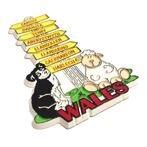 Wales Signpost Moulded PU Fridge Magnet [wm454]