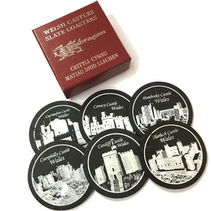 Welsh Slate Castles of Wales 6pc Coaster Set [WS89]