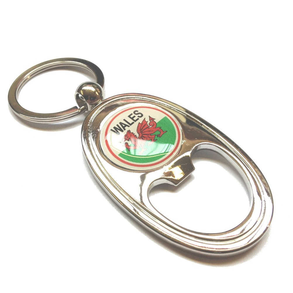 Welsh Flag Metal Bottle Opener Keyring [esk]