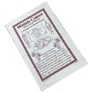 Welshcakes Recipe Printed Linen Tea Towel