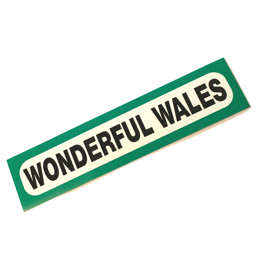 Wonderful Wales Car Bumper Sticker