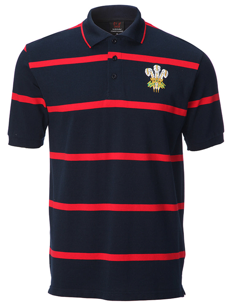 Welsh Dragon Yarn Dyed Polo Shirt [navy].