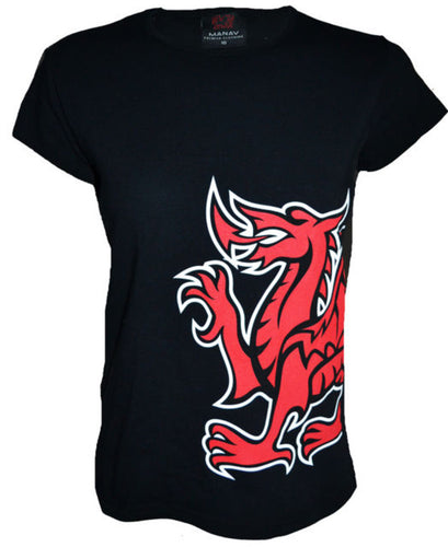 Wales Anthem Dragon Ladyfit T-Shirt