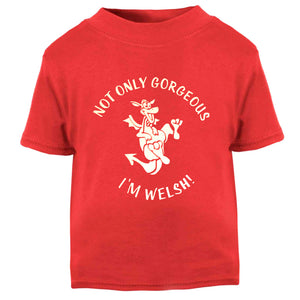 Not Only Welsh I'm Gorgeous Wales Baby T-Shirt