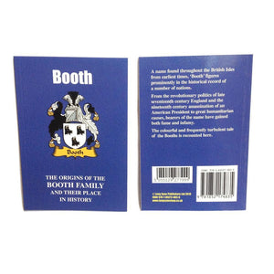Booth Family Surname Origins and History Pocketbook