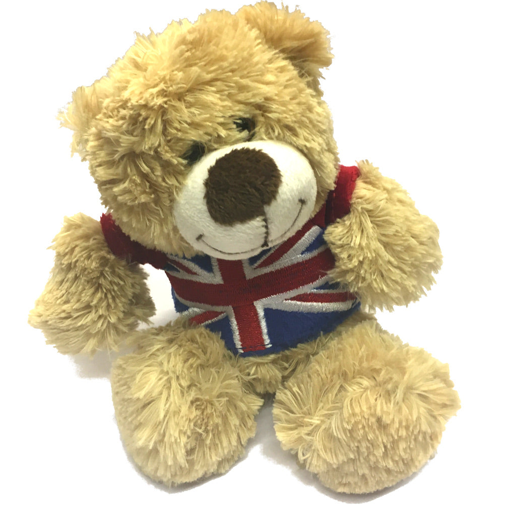 British Union Jack T-Shirt Bear Soft Toy [sf314]