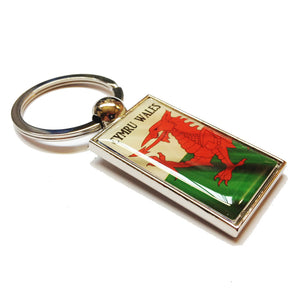 Welsh Flag Carded Metal Keyring [WK258]