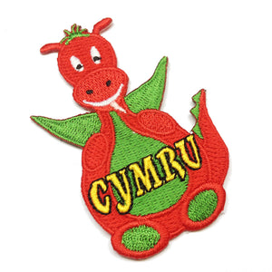 Wales Cartoon Dragon Embroidered Badge [wb143]