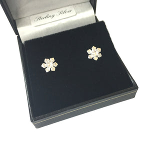 Celtic Collection Daffodil Sterling Silver Stud Earrings [R8E]