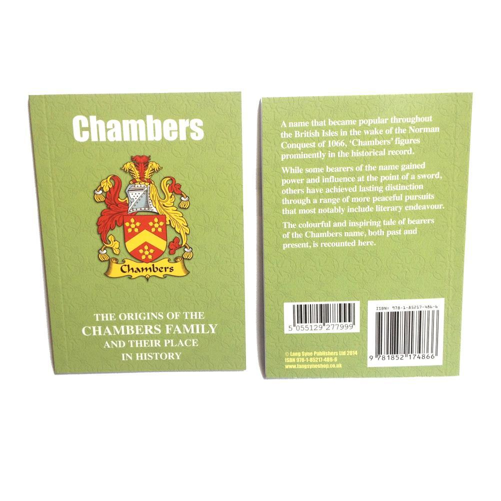 Chambers Family Surname Origins and History Pocketbook