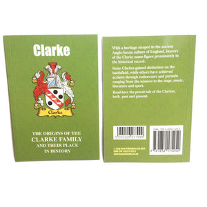 Clarke Family Surname Origins and History Pocketbook