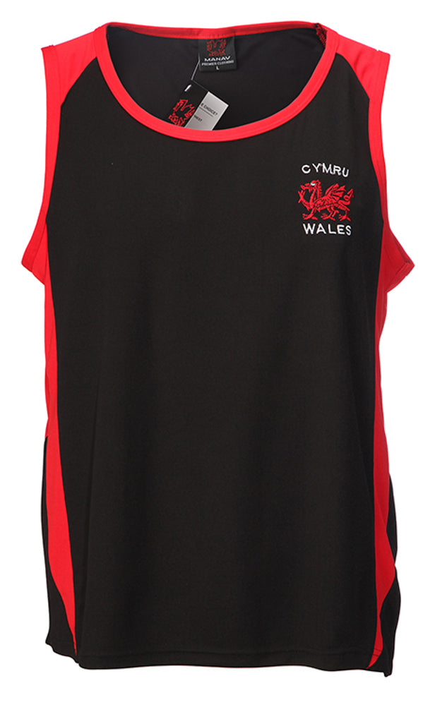 Wales Dragon New Poly Contrast Vest [sel]