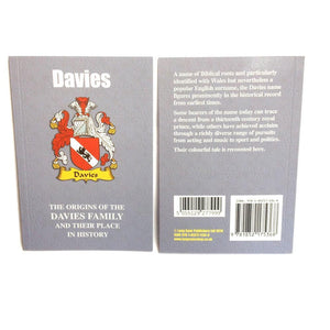 Davies Family Surname Origins and History Pocketbook