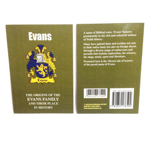 Evans Family Surname Origins and History Pocketbook